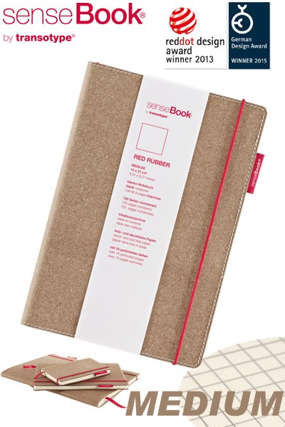 Notizbuch A5 senseBook Red Rubber M kariert