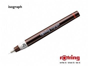 Tuschestift rotring isograph 0,18 mm