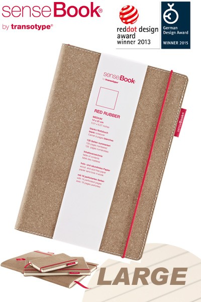 Notizbuch A4 senseBook Red Rubber L liniert