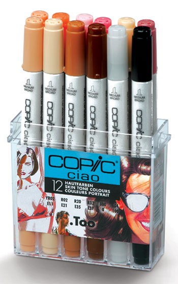 COPIC ciao 12er Set Hautfarben