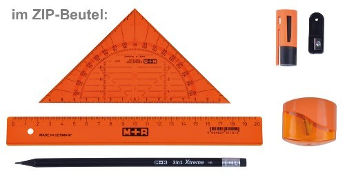 Lineal Set Starter Kit SCHULE orange