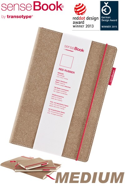 Notizbuch A5 senseBook Red Rubber M blanko