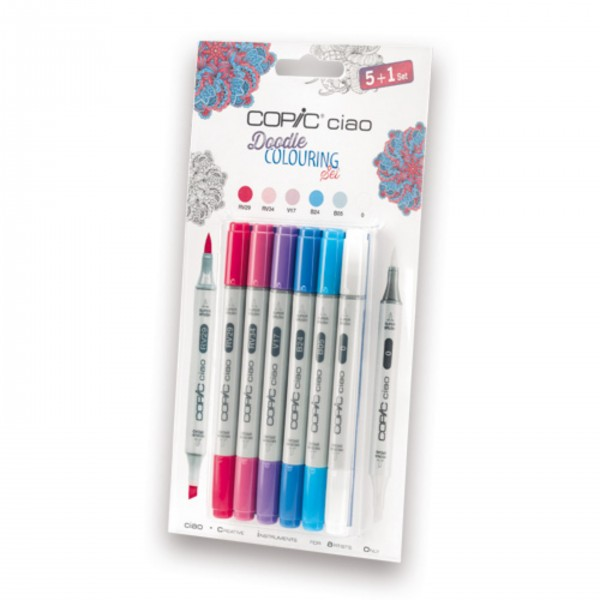 COPIC ciao Set 5+1 Doodle Colouring