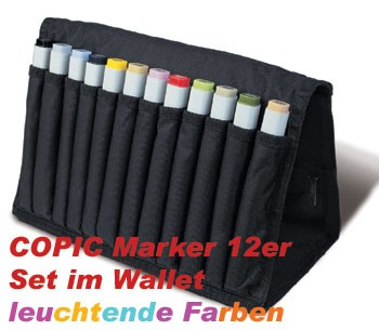 COPIC Maker 12er Set Leuchtende Farben im Wallet