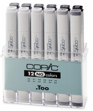 COPIC Marker Set 12er NeutralGray (NG)
