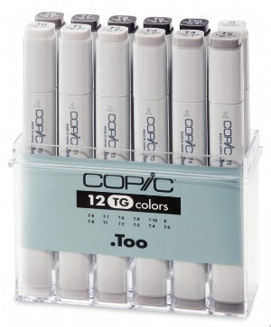 COPIC Marker Set 12er TonerGray (TG)