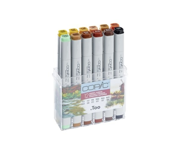 COPIC Marker Set 12er Herbstfarben