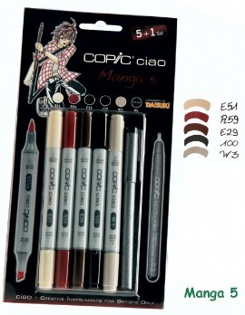 COPIC ciao Set 5+1 Manga 5