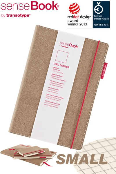 Notizbuch A6 senseBook Red Rubber S kariert