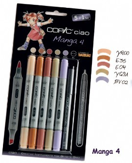 COPIC ciao Set 5+1 Manga 4