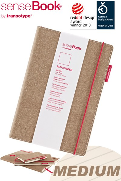 Notizbuch A5 senseBook Red Rubber M liniert
